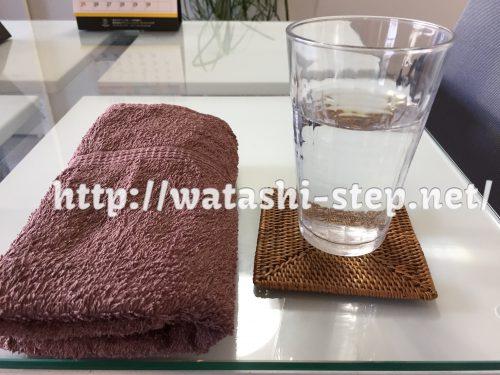 汗ふきタオルと水素水