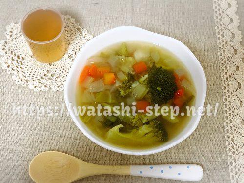 ベルタ酵素ドリンクと回復食の野菜スープ