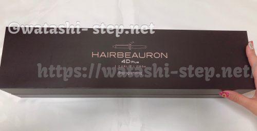ヘアビューロン4D Plusが入っている箱