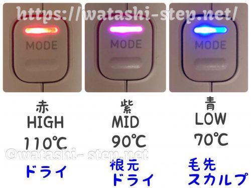 ノビーNIB3000の温度スイッチ部分
